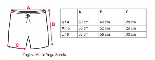 storlekstabell Yogiiza shorts
