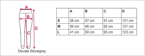 storlekstabell Devata ljusgrå. Material  95% ekologisk bomull ... a2cacb4a98d1c